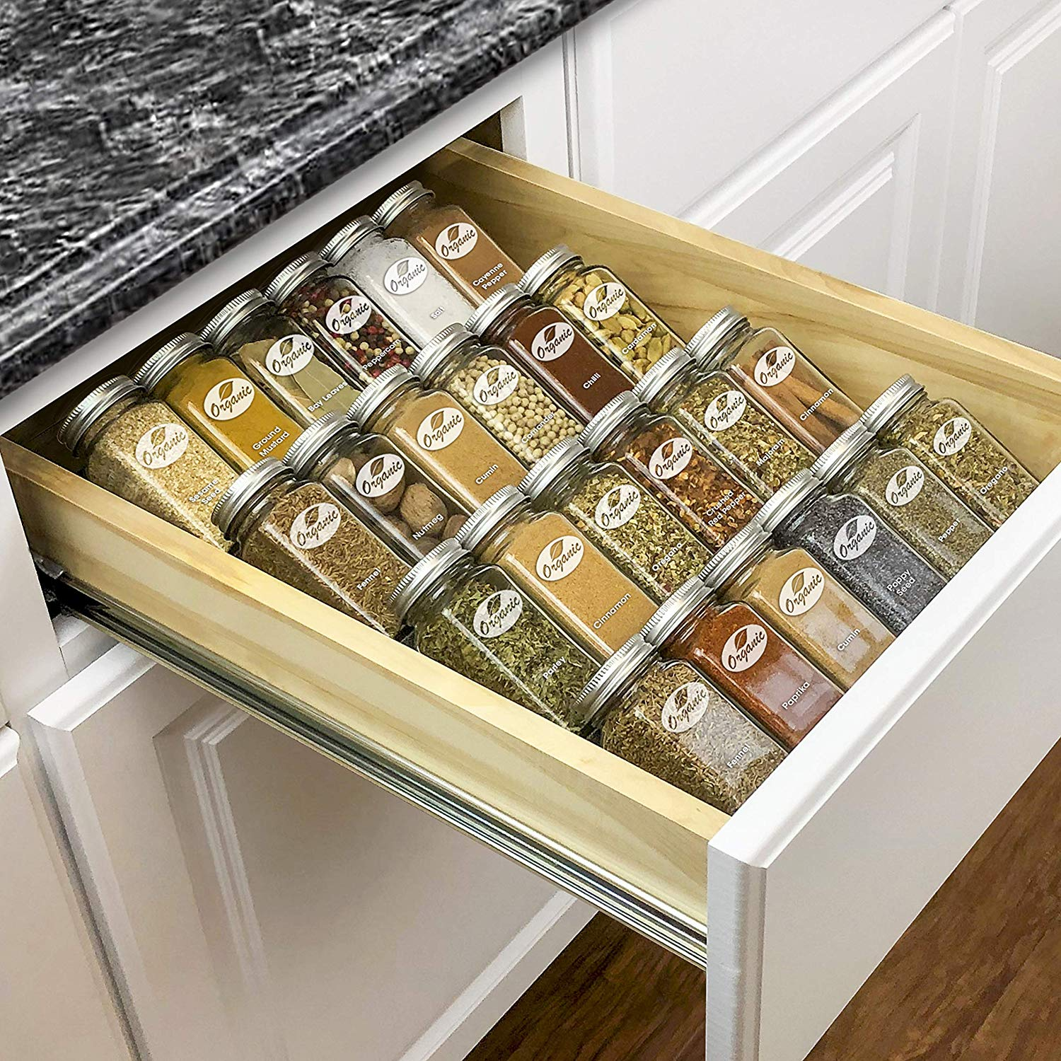 Tips on Organizing a Spice and Baking Cabinet - Pallet and ...